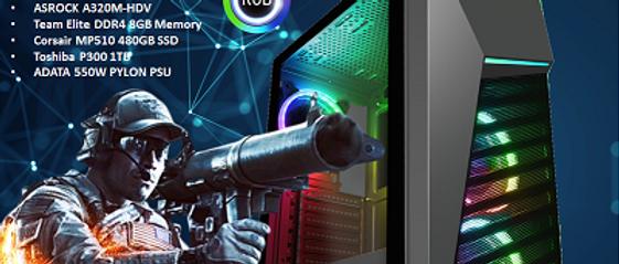 CTG103 AMD RYZEN 3 3200G with 8GB RAM + 480GB SSD + 1TB HHD - PRE-BUILT SYSTEM
