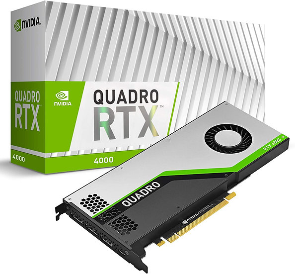 PNY Quadro RTX 4000 Professional Graphics Card, 8GB DDR6, 3 DP 1.4 (DVI & HDMI a