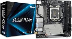 Asrock Z490M-ITX/AC, Intel Z490, 1200, Mini ITX, 2 DDR4, HDMI, DP, AC Wi-Fi, 2.5