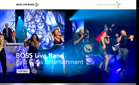 Boss Live Band Web & Graphic Design - Website creation