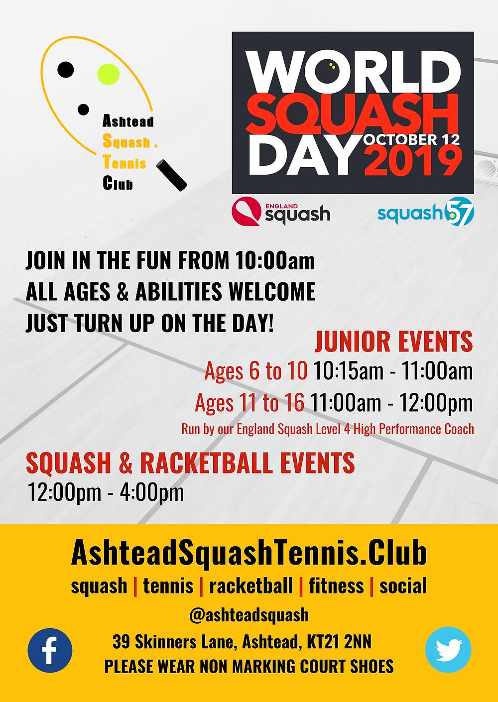 World Squash Day 12th October 2020