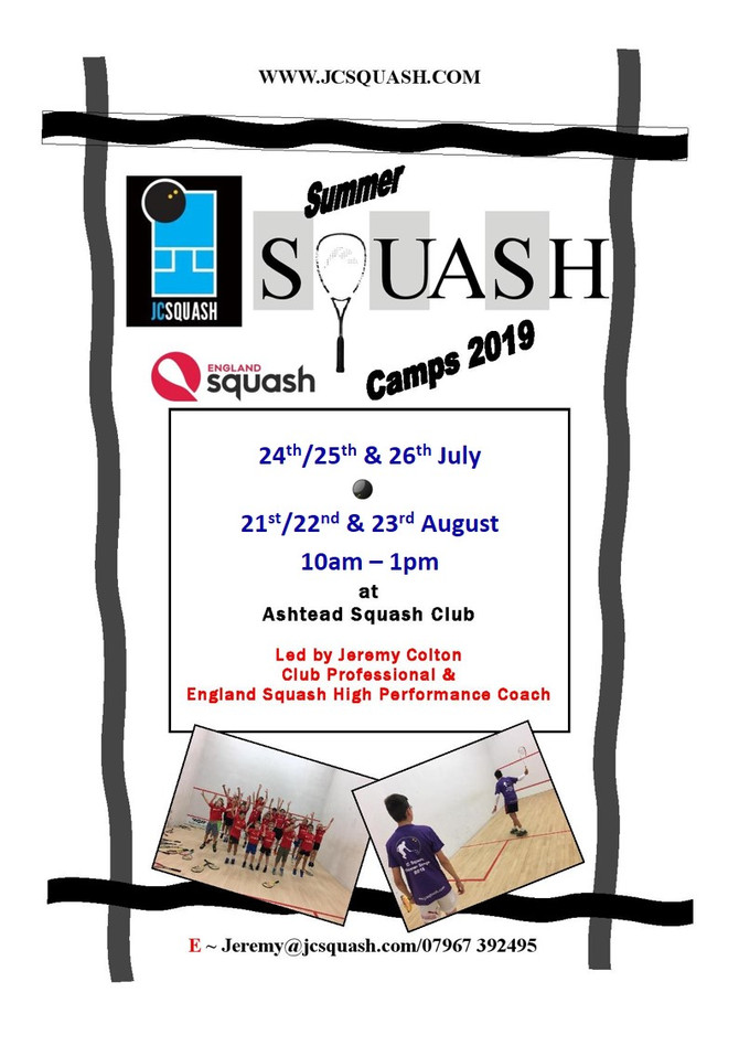 Squash Junior Summer Camp