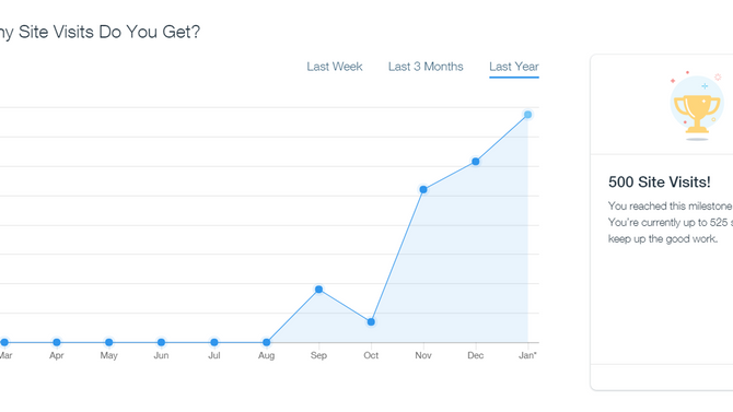 New website hits 500 visits!