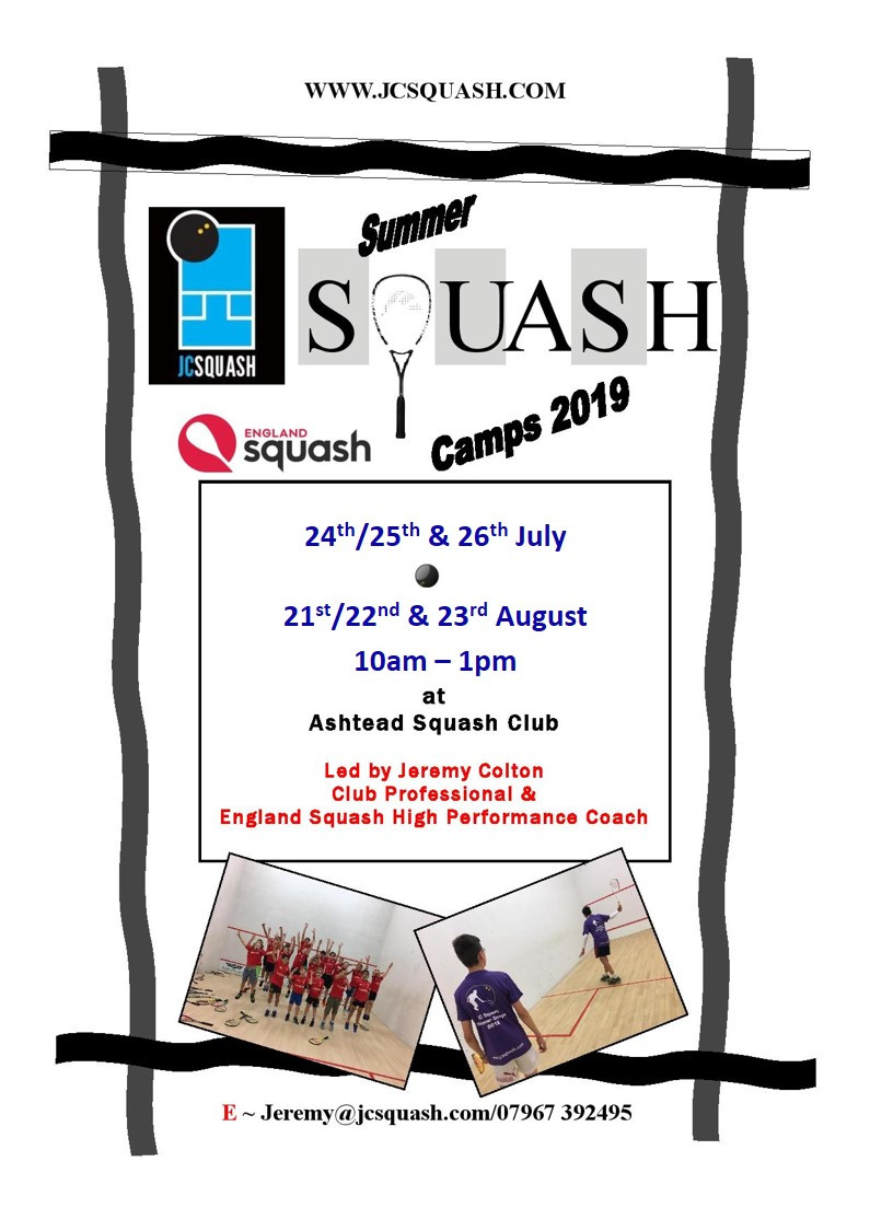 JC Squash Summer Camps 2018