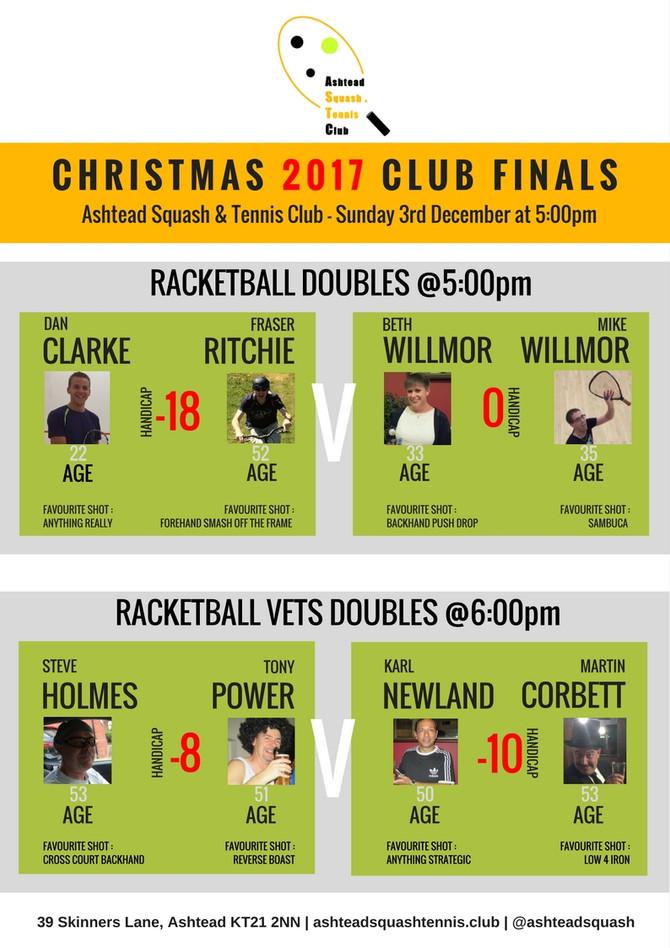 Christmas 2017 Club Finals