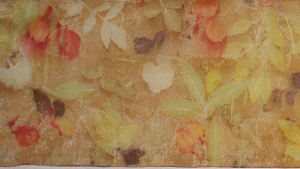 Botanical printed silk scarf