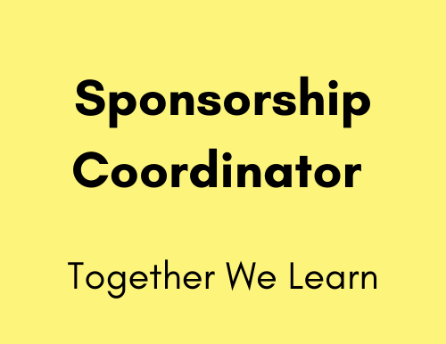 Sponsorship Coordinator - Together We Learn