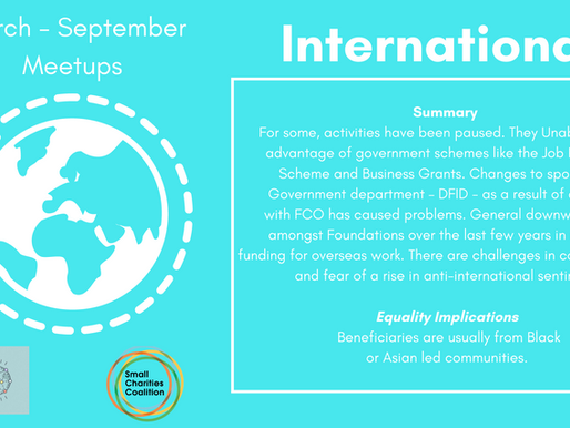 International Meetup - March - September Summary