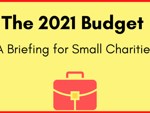 The 2021 Budget - A Briefing for Small Charities
