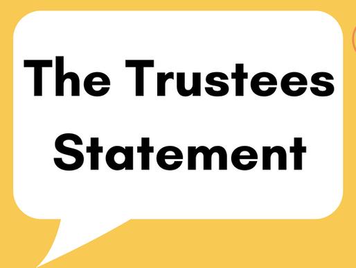 The Trustees Statement