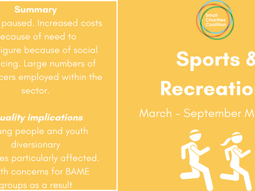 Sports & Recreation Meetup - March - September Summary