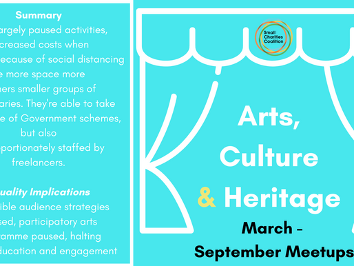 Arts, Culture & Heritage Meetup - March - September Summary