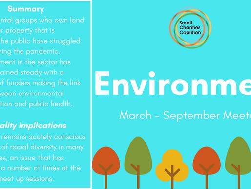 Environment Meetup - March - September Summary