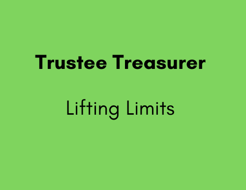 Trustee Treasurer - Lifting Limits