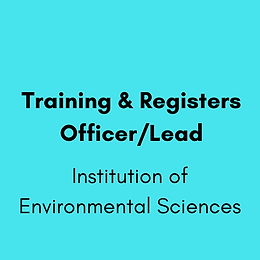 Training & Registers Officer/Lead - Institution of Environmental Sciences