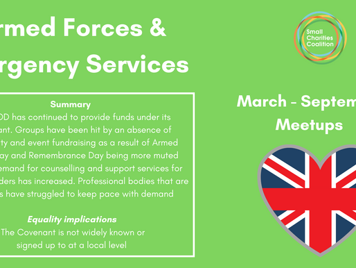 Armed Forces & Emergency Services Meetup - March - September Summary