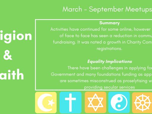 Religion & Faith Meetup - March - September Summary
