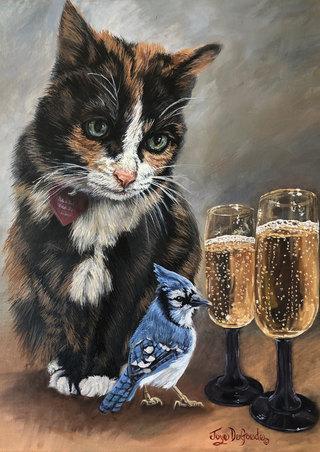 Cool Cat Blues ©JoyEful Party Animals®