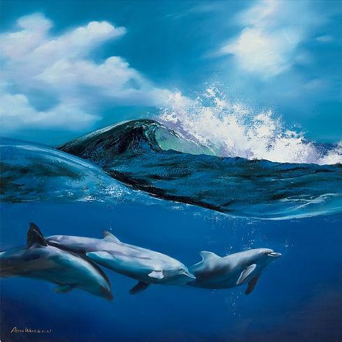 BEST Zhufang WangBelow the Wave, 100cm-100cm, Oil Painting.jpg
