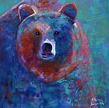 Blue Lips, Acrylic on canvas, 30 by 30 i