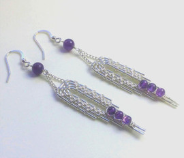Sterling silver with amethyst