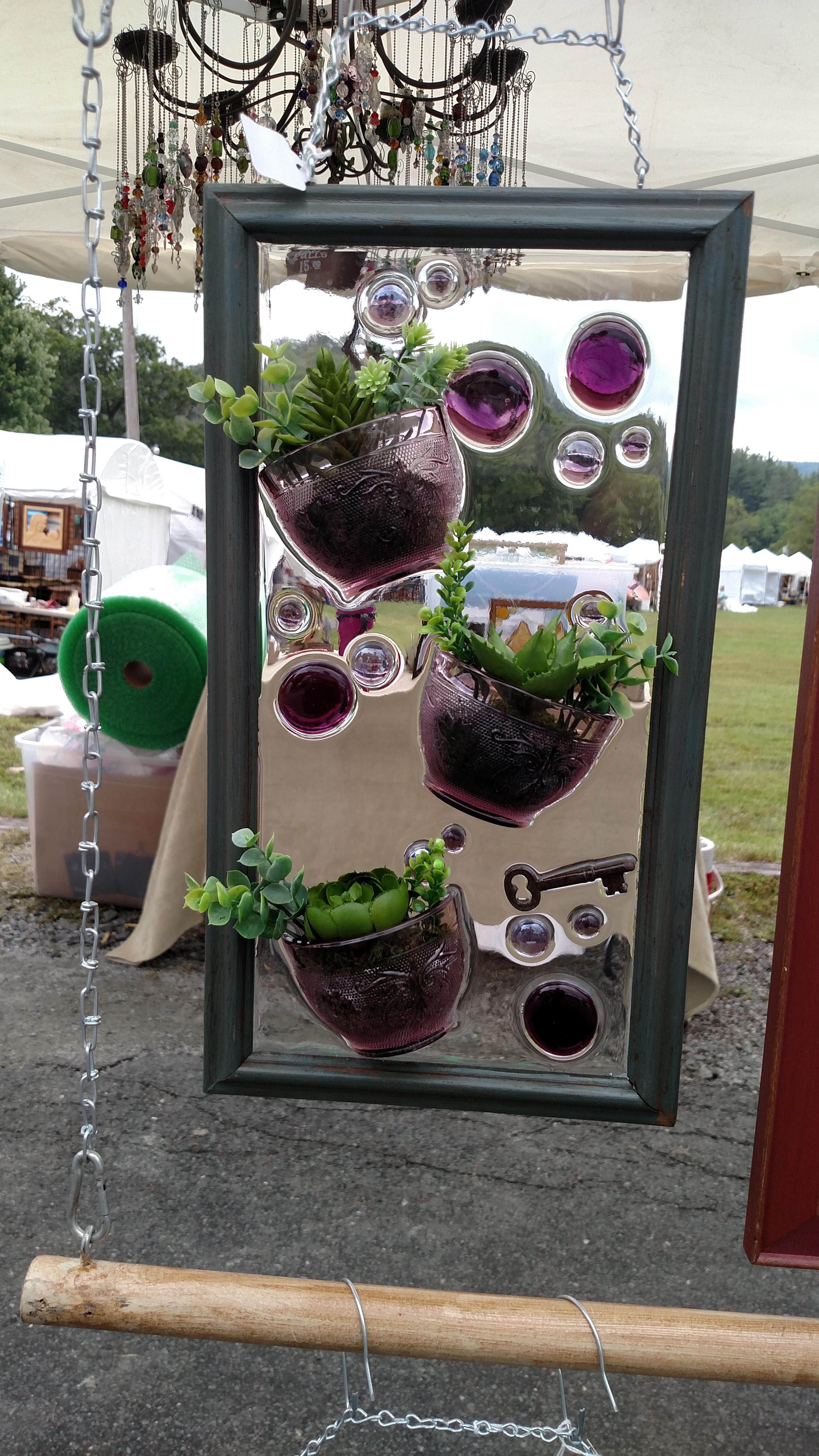 3 Amethyst Cups & Succulents