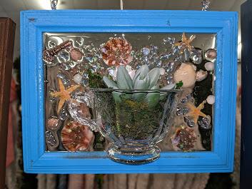 5x7 Shells & Succulents-Bright Blue