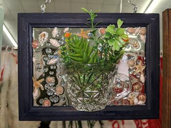 5x7 Shells & Succulents-Blue