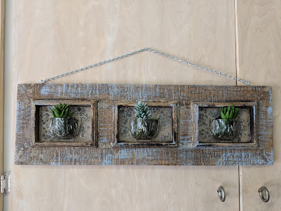 Rustic Frame with Succulents