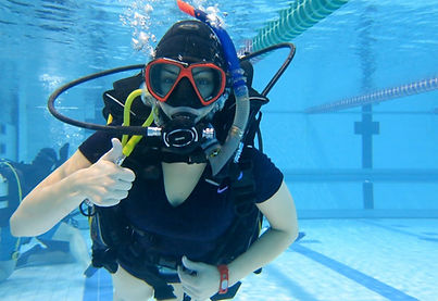 Try diver having fun.