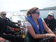 Driving the RIB in Portland Harbour