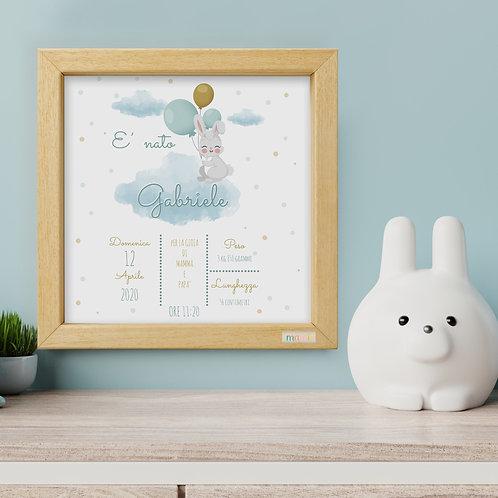 Arriva un Coniglietto - Quadretto Nascita