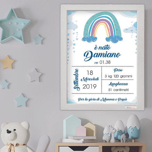 Rainbow - Quadretto Nascita