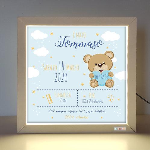 Un' Orsetto Innamorato  - Quadretto Luminoso