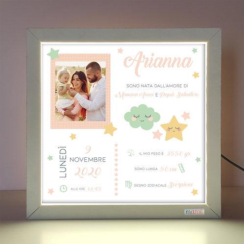 Stelline&Nuvolette - Quadretto Luminoso