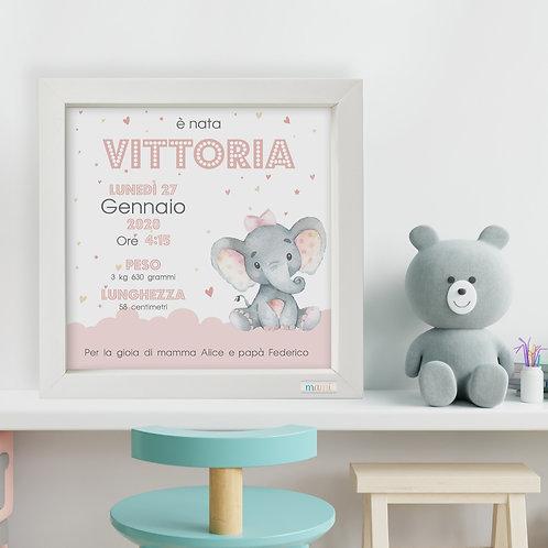 Un Elefantino Dolcissimo - Quadretto Nascita