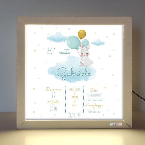 Arriva un Coniglietto - Quadretto Luminoso