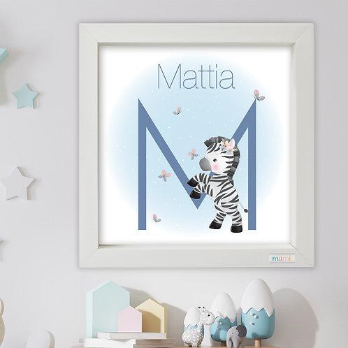 La Zebra Furbetta - Quadretto Nascita