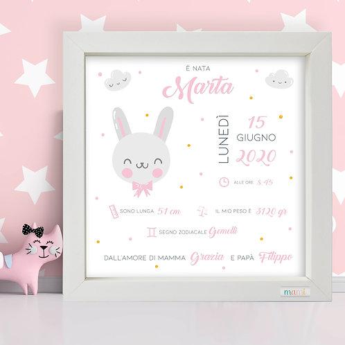 Baby Rabbit - Quadretto Nascita