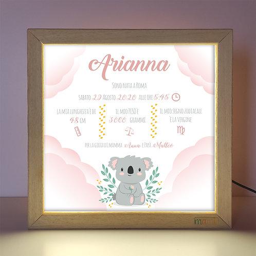Un Koala Coccoloso - Quadretto Luminoso
