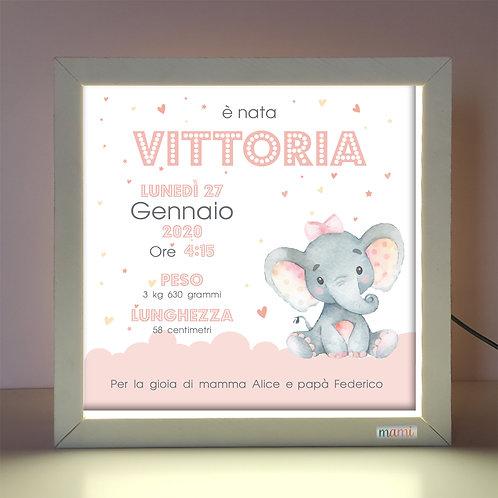 Un Elefantina Dolcissima - Quadretto Luminoso