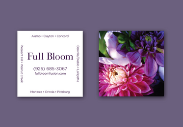 Full Bloom Business Cards