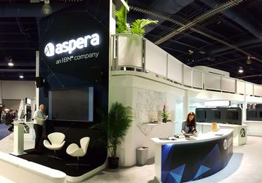 Aspera Trade Show Booth