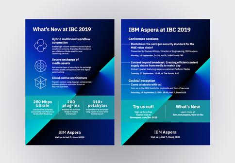 IBC 2019 Booth print