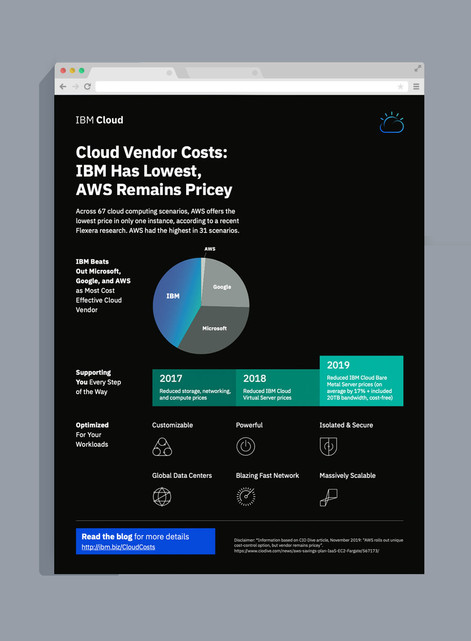 IBM   Cost Infographic