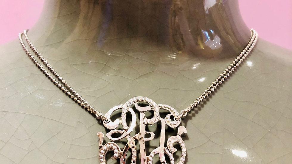 Collier arabesque grand modèle argent