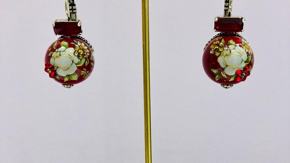 Boucles d'oreilles boules chinoises argent