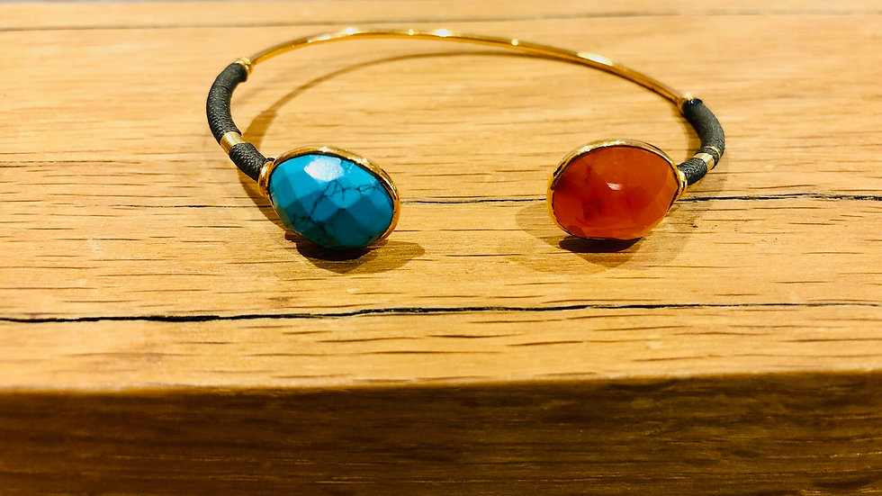 Bracelet Duality serti or