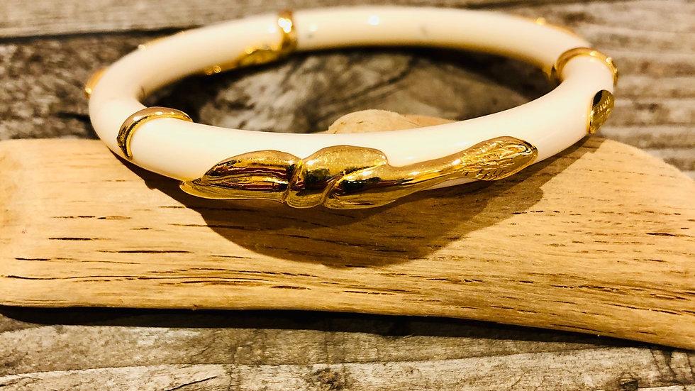Bracelet jonc Cobra acétate or - ivoire