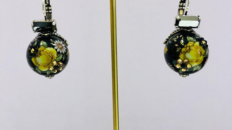 Boucles d'oreilles Boules choinoises argent